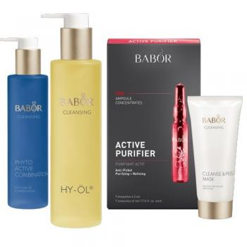 BABOR Home SPA Set Clear (HY-ÖL, Phytoactive Combination, Cleanse & Peel Mask und Active Purifier)